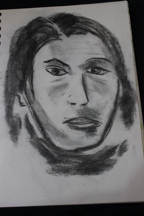 42 charcoal portrait 1